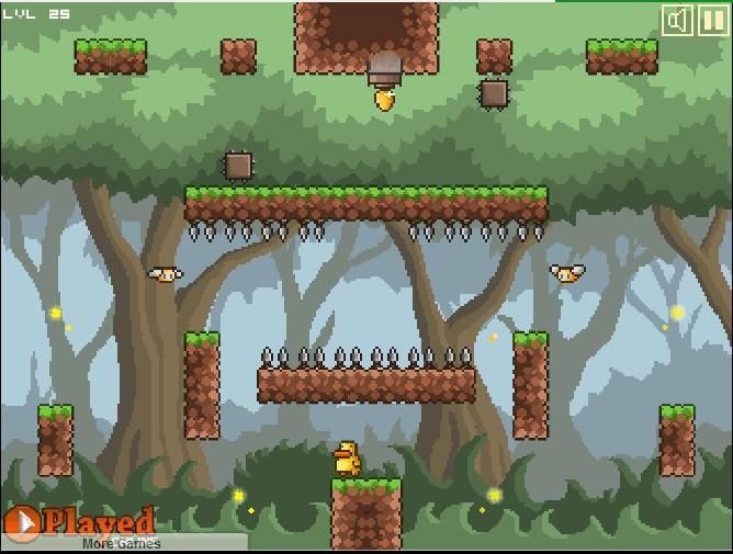 Chrome游戏:重力鸭(Gravity Duck)